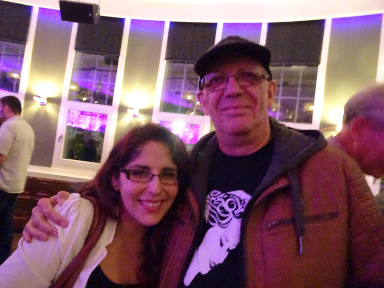 Marcela and myself(Flemming) at Anneke's Concert in Tilburg Sep.28,2015