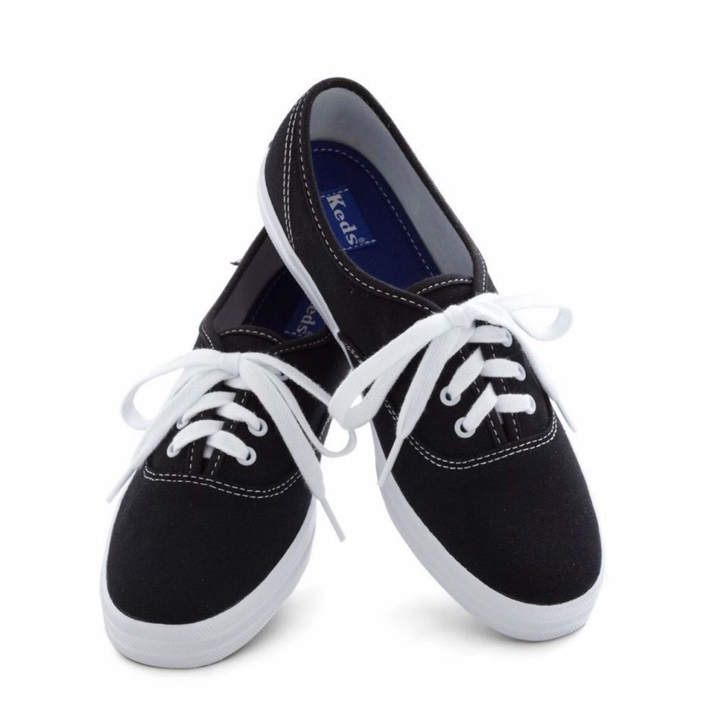 wide selection of colors discount shop discount up to 60% Keds Shoes | Keds Black Canvas Flat | Color: Black/White ...