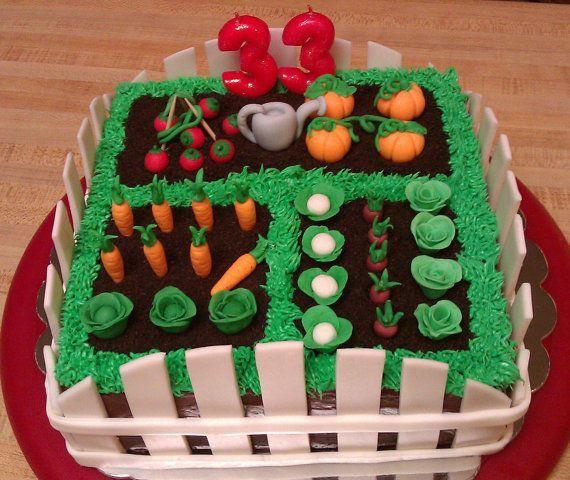 Fondant Vegetables Gardens Cabbages And Vegetables Allotment Cake Garden Cakes Cake