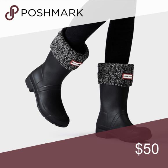 New in Box Black Gray Wool Hunter Boot