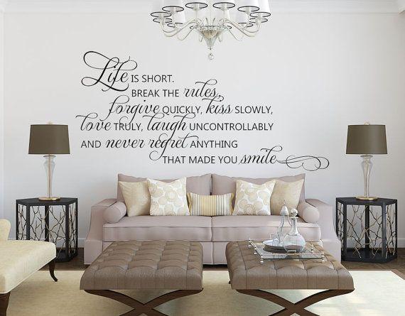 inspirational wall decor - inspirational quote - wall decor - vinyl