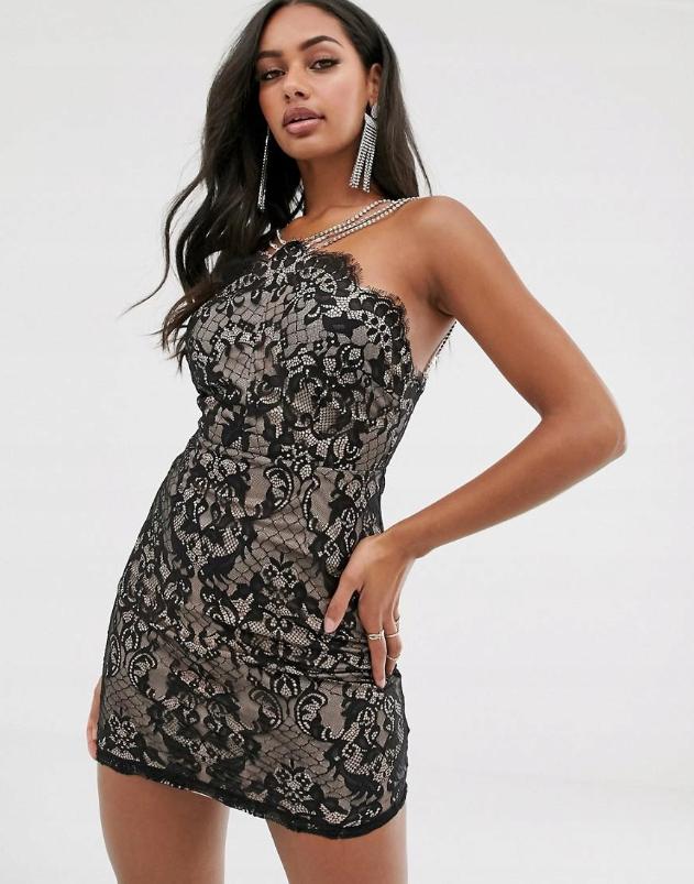 26u176 Rare Xdd Sukienka Mini Koronkowa M 8873264947 Oficjalne Archiwum Allegro Mini Dress Dress And Heels Mini Dress Outfits