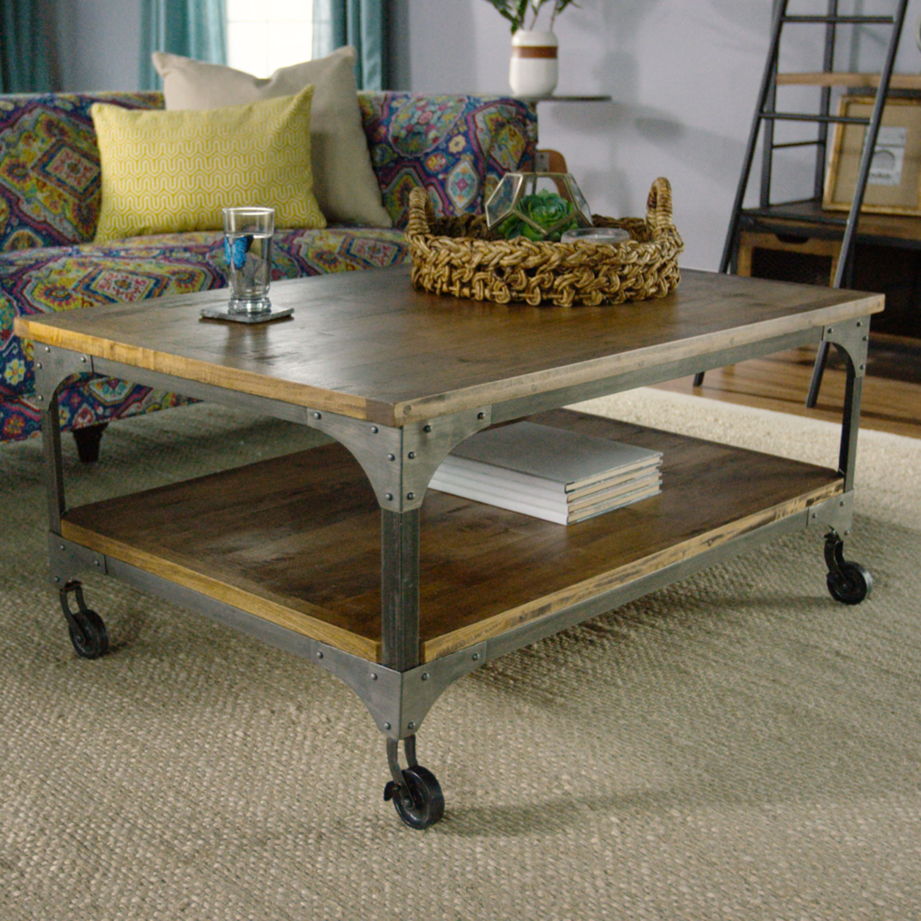 In front of the sofa or between two armchairs our coffee table gives your space