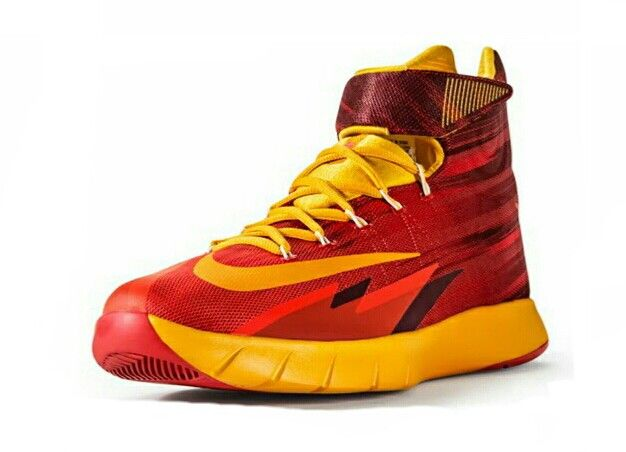 92a35845375e Kyrie Irving Nike zoom HyperRev red and yellow