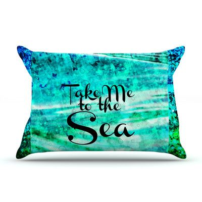 KESS InHouse Take Me to the Sea by Ebi Emporium Featherweight Pillow Sham Size: Queen, Fabric: Woven Polyester