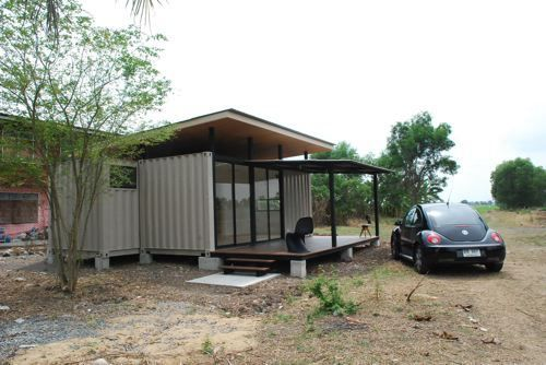 Shipping Container Architecture: Simple shipping container home made of two 20 ft containers