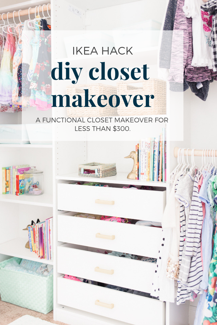 Kids Closet Makeover with IKEA Closet Organizer - DIY images