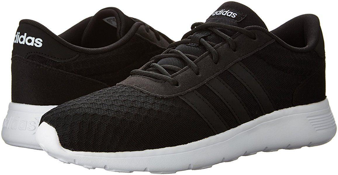 comienzo Marcha mala Periódico  adidas NEO Women's Lite Racer W Running Shoe,  Black/Black/White, 11 M US | Black athletic shoes, Adidas women,  Black and white shoes