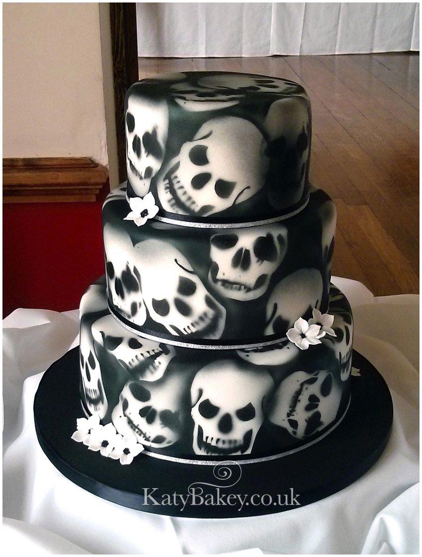 Peachy Skull Cake Skull Cake Cake Decorating With Fondant Halloween Funny Birthday Cards Online Eattedamsfinfo