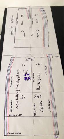 DIY tutorial y patrón gratis de falda fácil con cremallera trasera vista