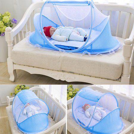 40a5f84828ef 4 Pcs Portable Folding Baby Bed Mosquito Net Newborn Sleep Bed ...
