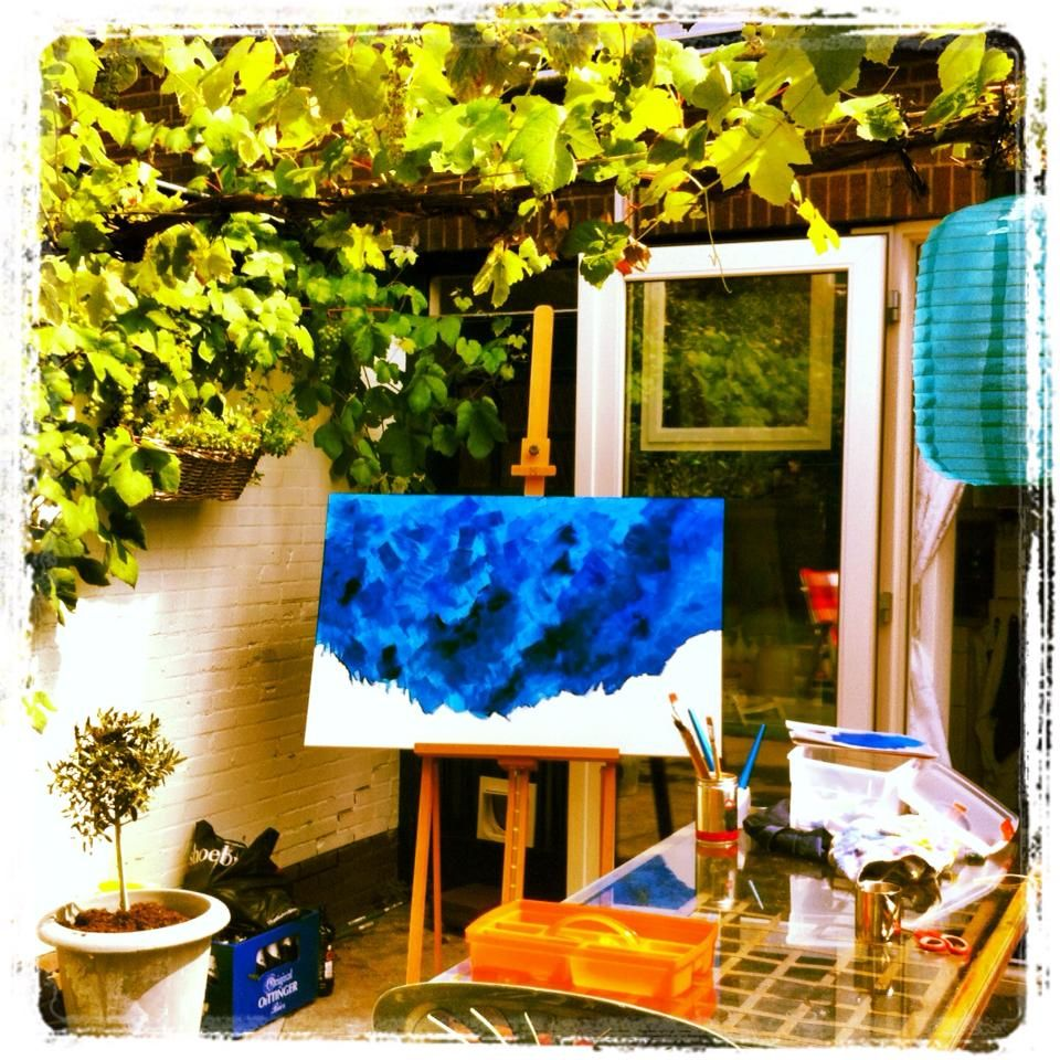 Painting in my garden - made by Linda