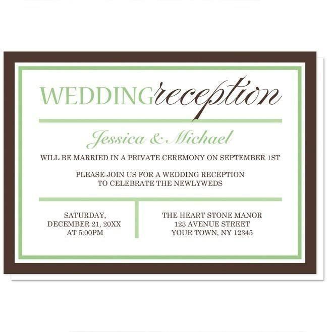 Small Ceremony Big Reception Invitations