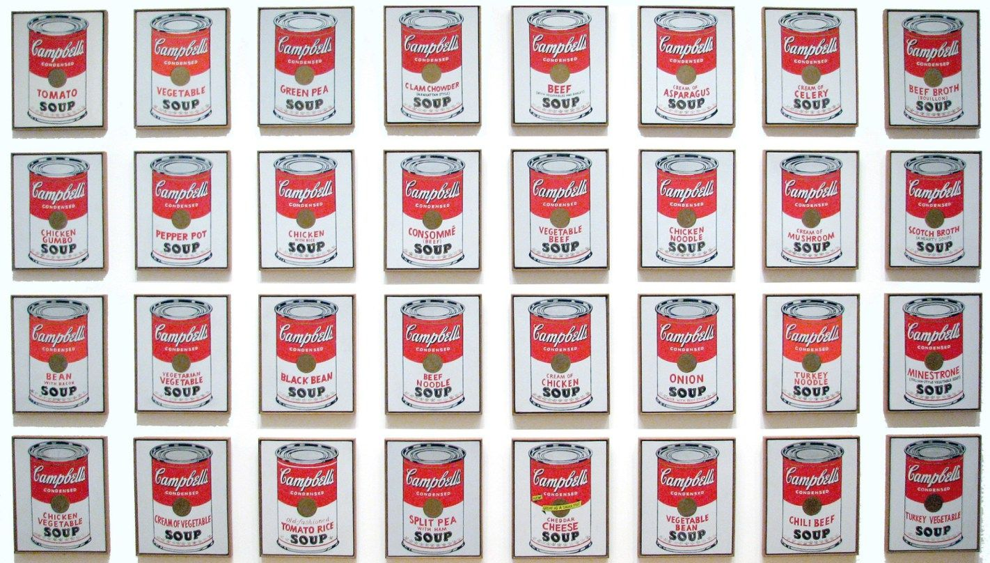 Andy Warhol Campbell S Soup Cans 1962 Pop Art Andy Warhol Soup Cans Campbell S Soup Cans Andy Warhol Art