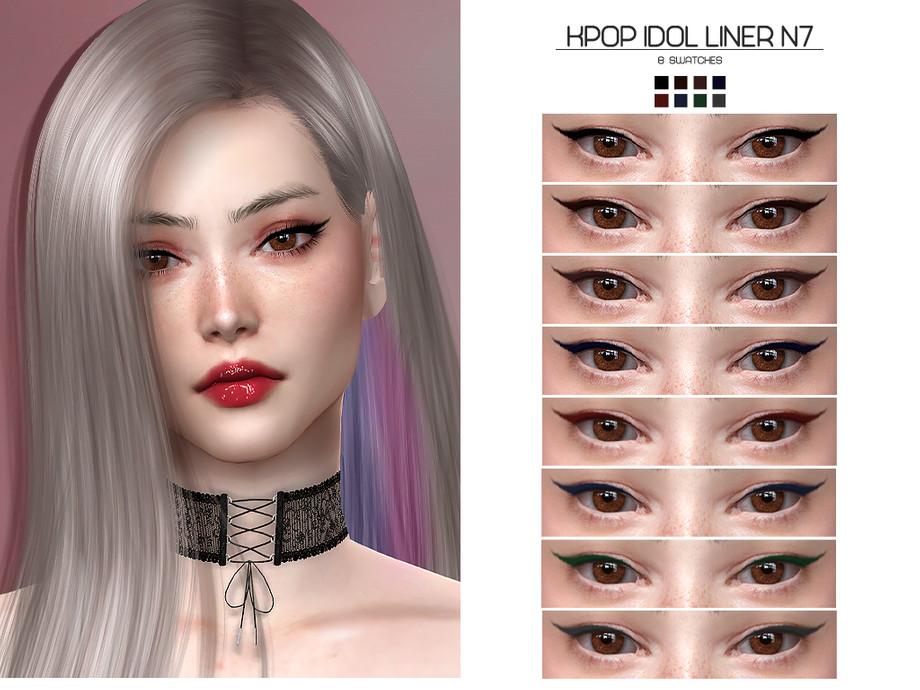 Lisaminicatsims Lmcs Kpop Idol Liner N7 In 2021 Sims 4 Kpop Idol Sims