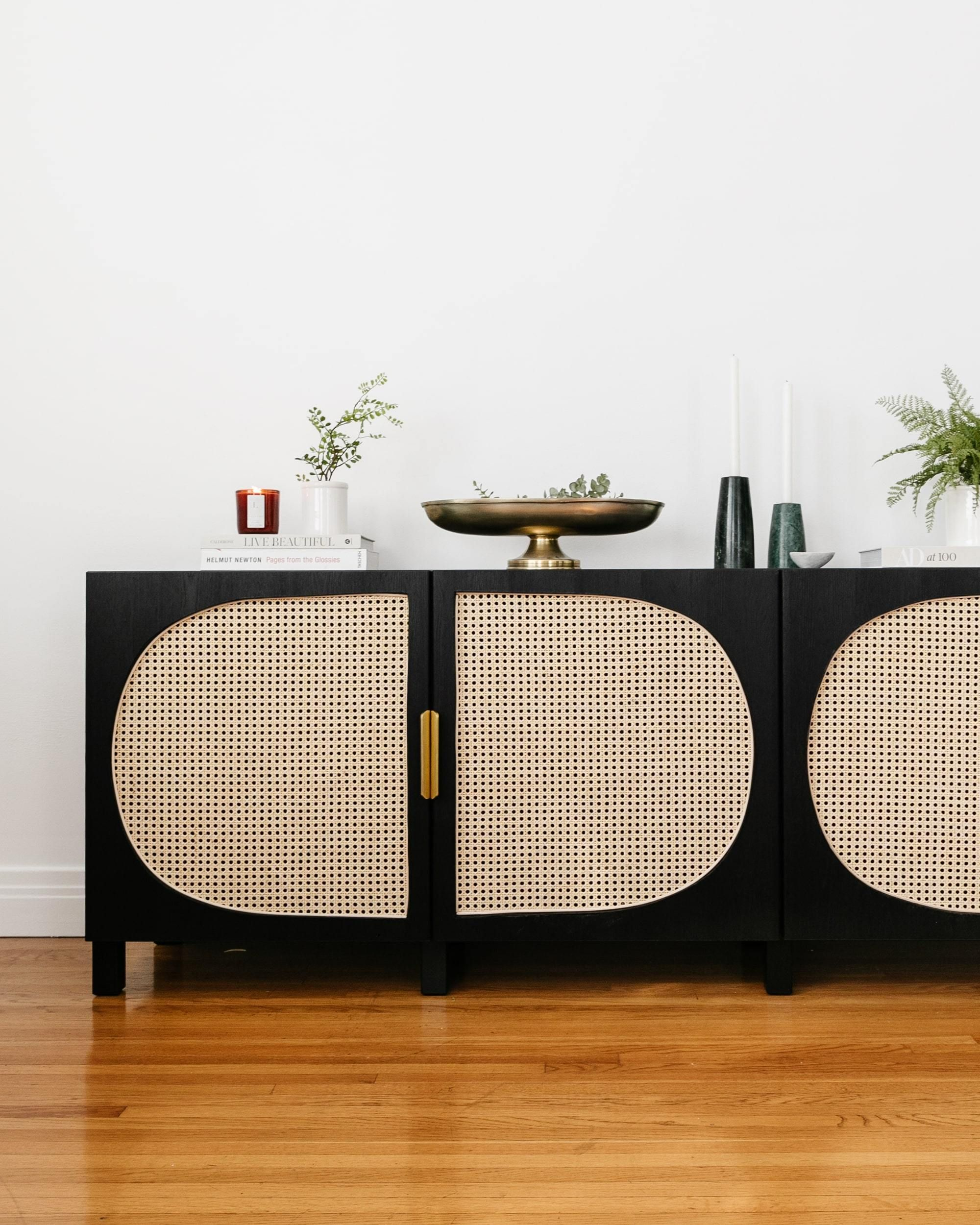Photo of DIY IKEA Hacks Storage Woven Cane Storage Media Unit Living Room