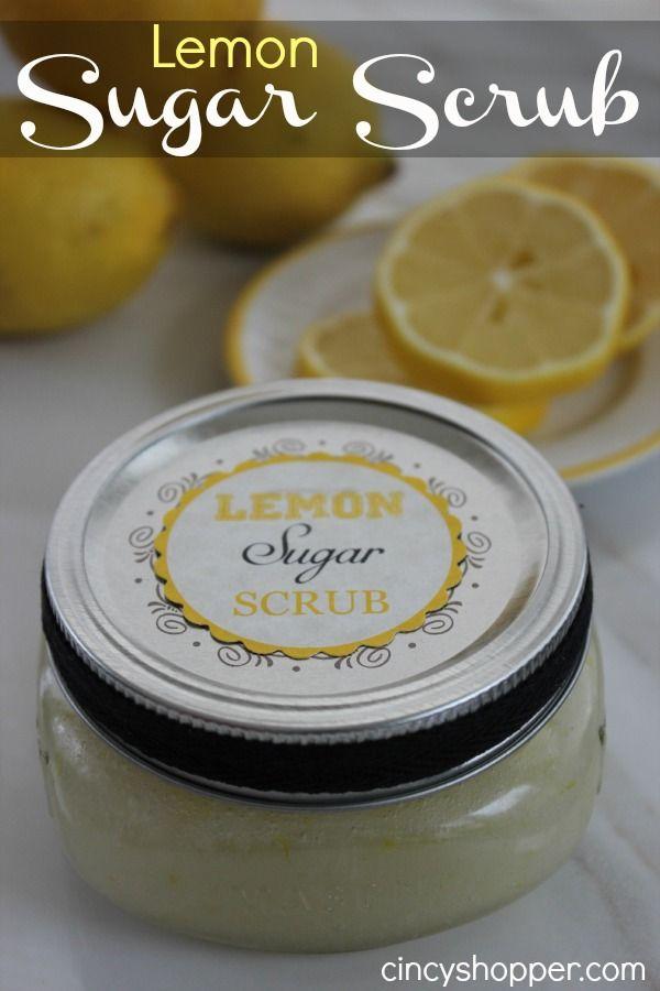 Diy gifts lemon sugar scrub in a jar with free printable labels diy gifts lemon sugar scrub in a jar with free printable labels negle Choice Image
