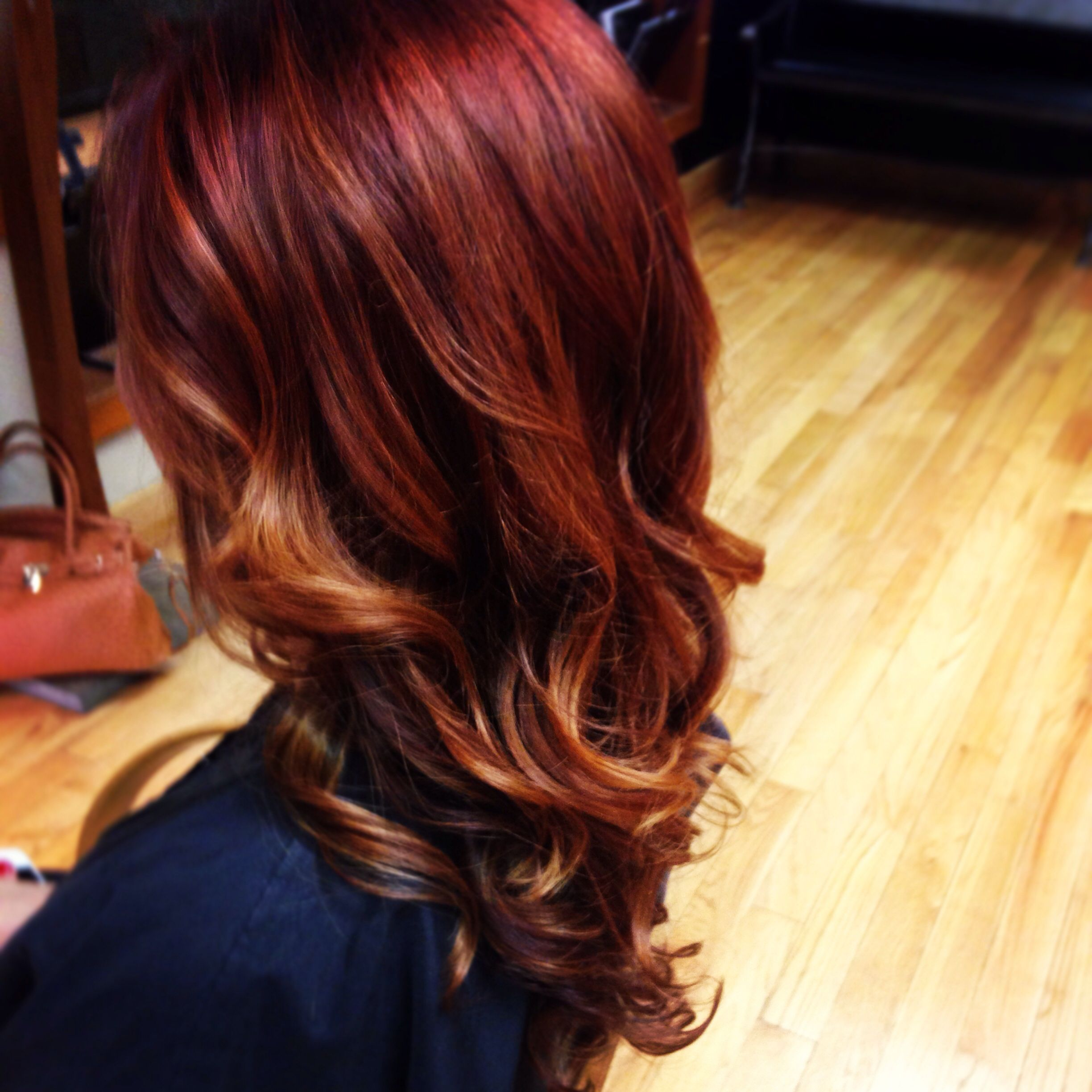 Rigsby Frederick Salon- red ombré - red hair - red and ...  Rigsby Frederic...
