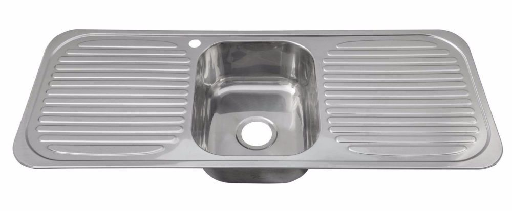 1 bowl inset kitchen sink with two 2 drainers In a stunning ...