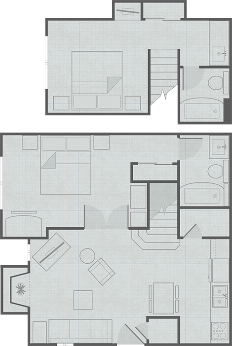 Hotel Suites Floor Plans Small House Plans Tiny House Cabin