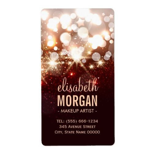 Makeup Artist - Modern Shimmer Glitter Sparkle Shipping Label - shipping label
