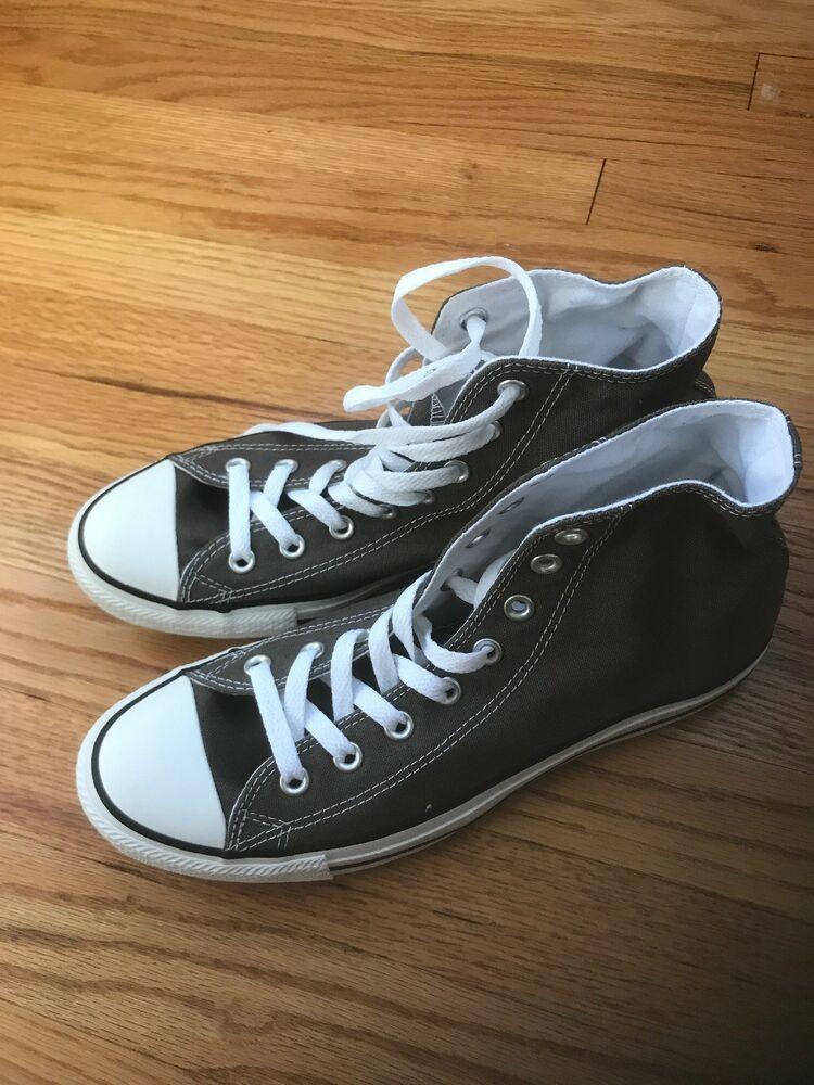 Charcoal gray Converse Chuck Taylors men's 9 wo 11