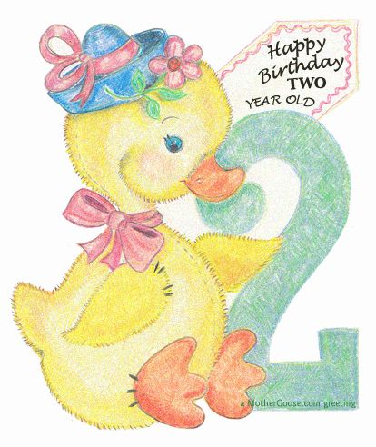 Happy Birthday Duck 2 Years Old Free Clip Art For Your Creative