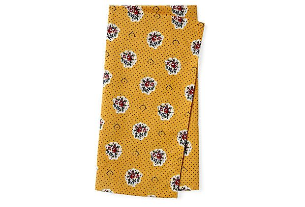 S/4 Roses Dinner Napkins, Yellow on OneKingsLane.com