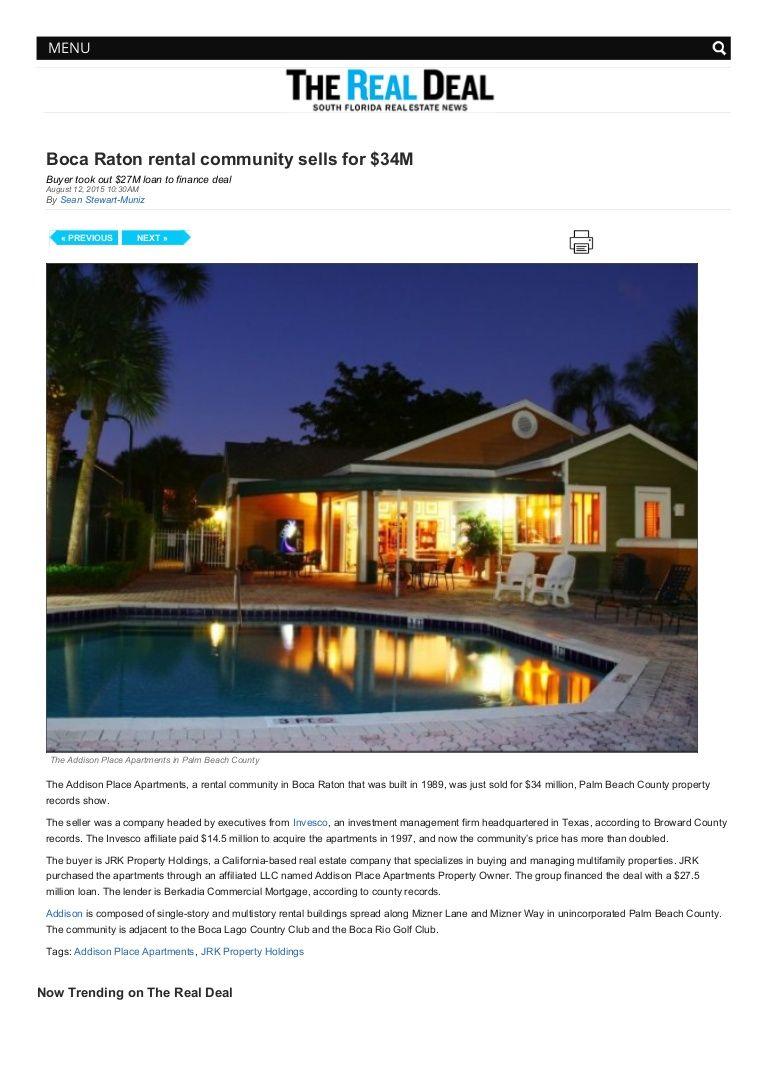 Jrk Property Holdings Boca Raton Rental Community Property Rental Apartments Rental