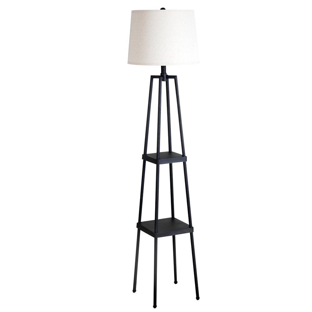 Catalina 19305 000 3 Way 58 Inch Etagere Floor Lamp With Distressed Lamps For Living RoomLiving