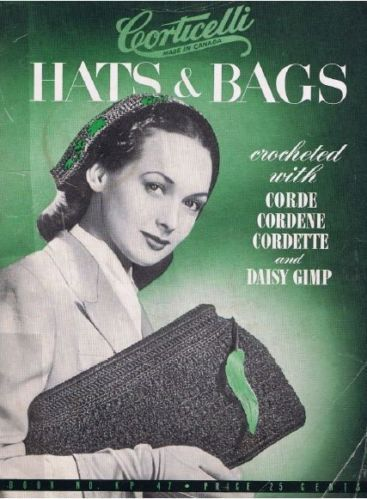 Corticelli Hats and Bags to Crochet on CD Vintage | eBay