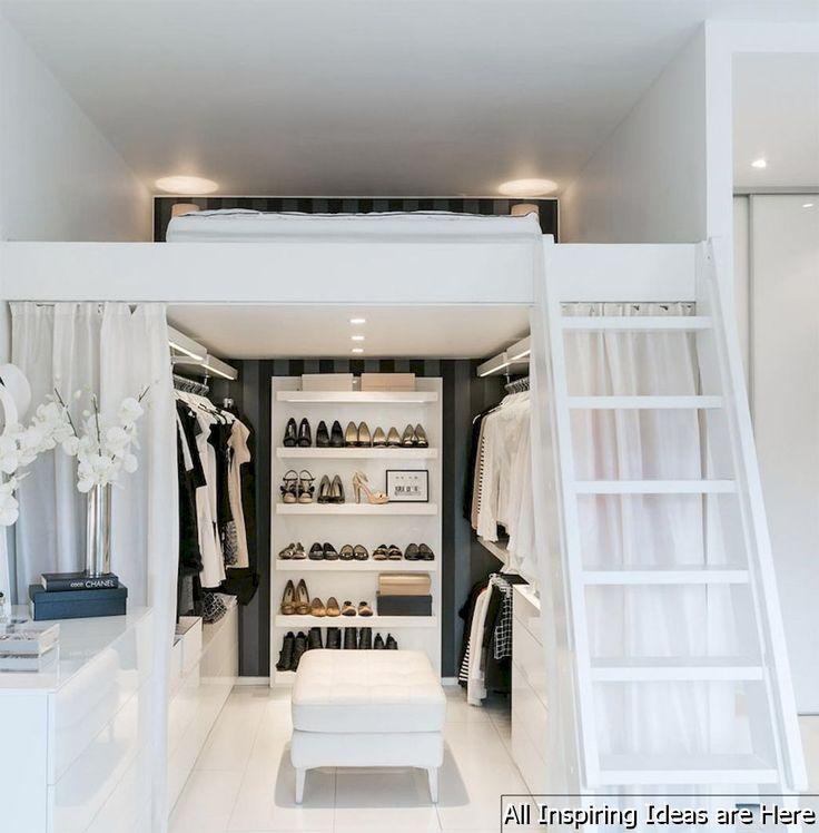 66 tolle kleine Loft-Schlafzimmer-Ideen #smallbedroominspirations