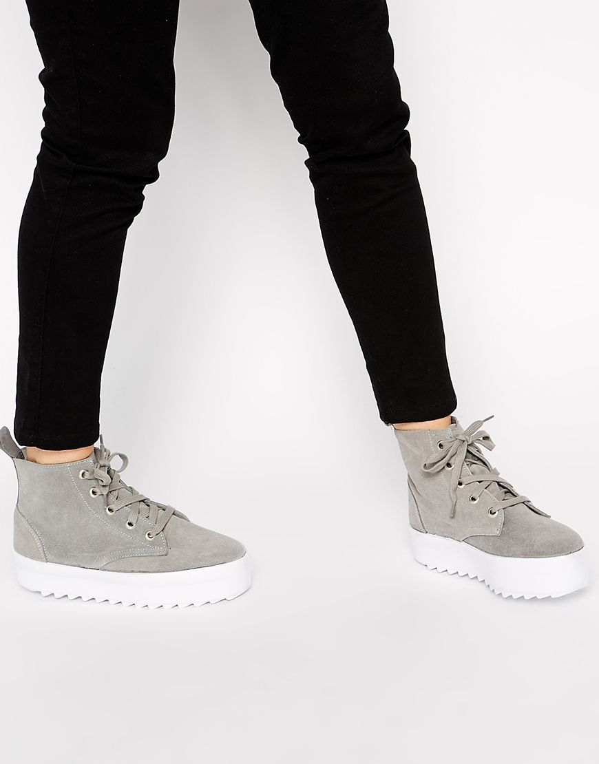 Image 1 of Shellys London Murci Kid Suede Platform High Top Trainers.  Women's ...