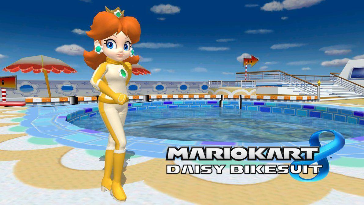 Mario Kart 8 Daisy Bikesuit By Fatalitysonic2 Mario Kart 8