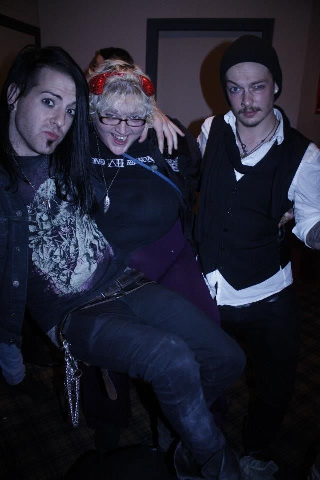 Me with Johnny  (TheFALLEN - now named The Family Ruin) and  Venno (Beyond All Reason) out drinking in York on my 26th birthday