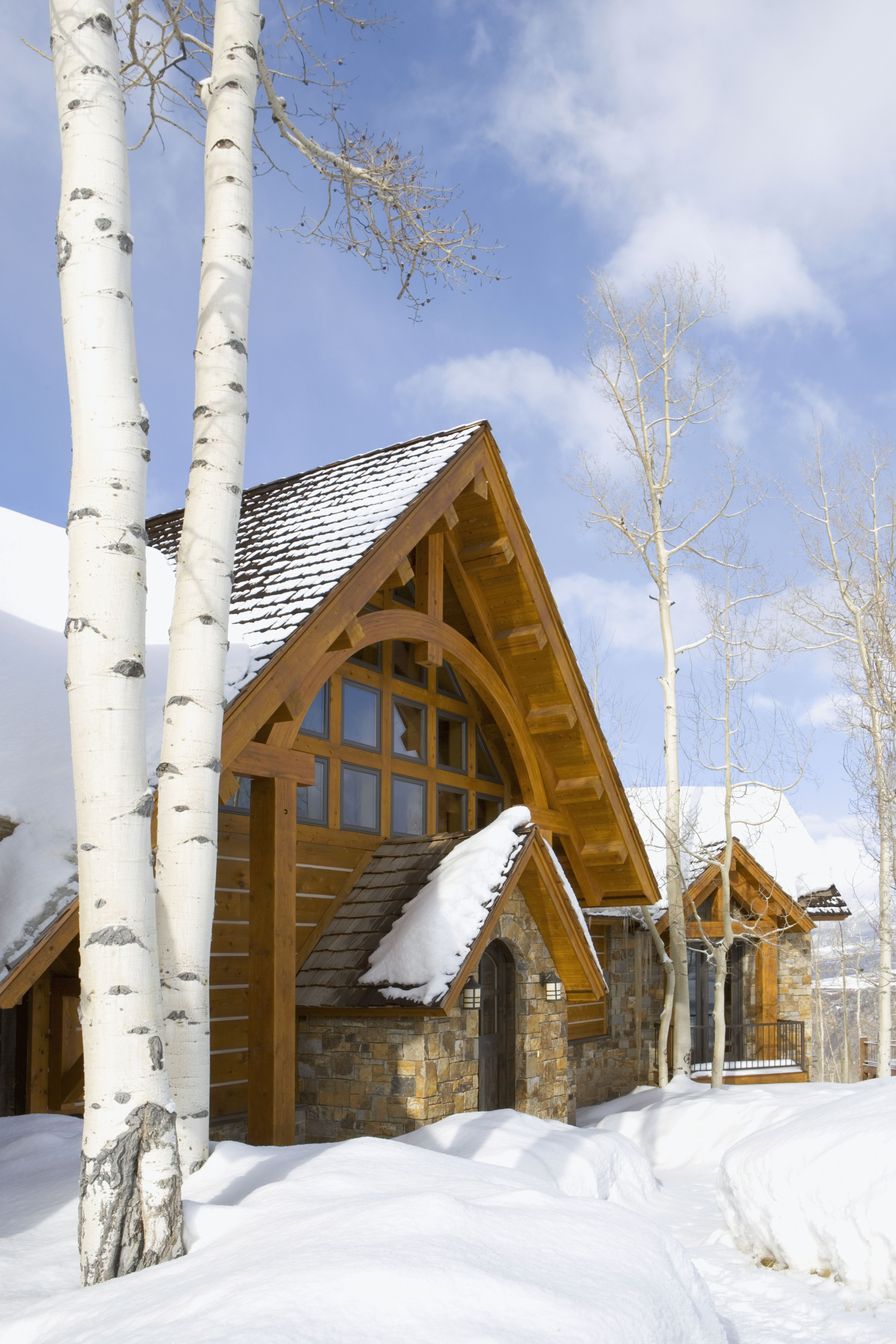 Front Elevation Rocky Mountain Delight Mountain Dream Homes Log Homes Timber House