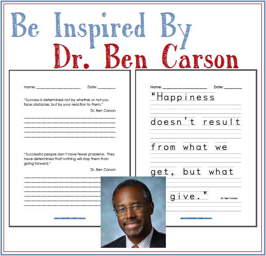 Dr Ben Carson Quotes Copy Work Homeschool Writing Free Homeschool Resources Homeschool Copywork