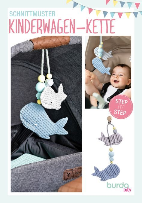 Photo of DIY stroller chain in whale shape | Easy step-by-step: sewing and crafting instructions for all DIY enthusiasts