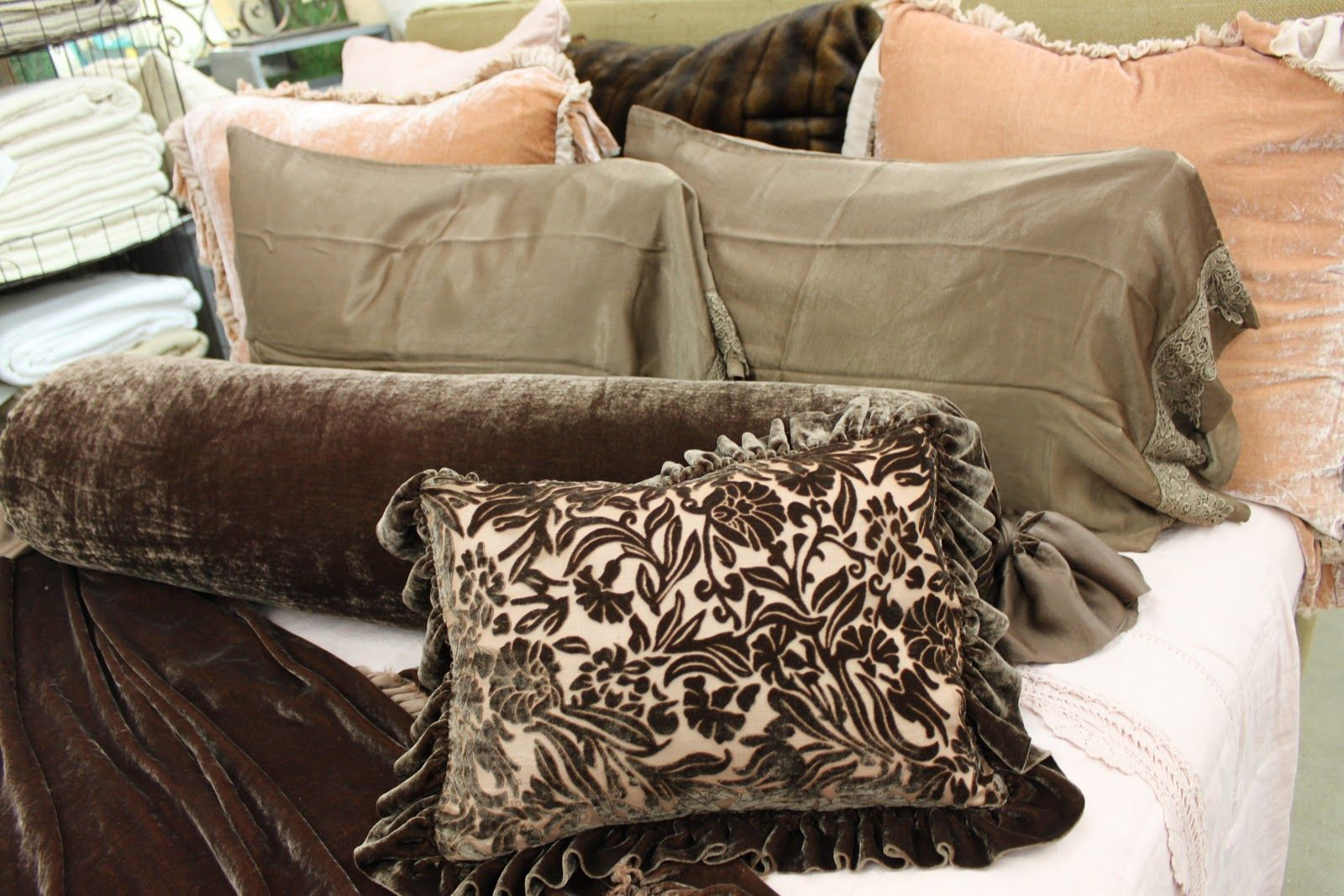 """Bella Notte's """"Fawn"""" color shown in satins and velvets are the epitome of luxury. Description from bluespringshome.blogspot.com. I searched for this on bing.com/images"""