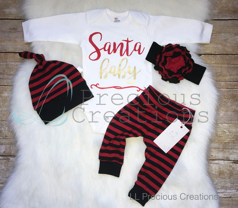 Christmas baby girl outfit santa baby christmas outfit baby girl