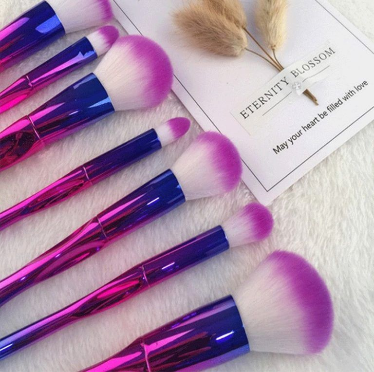 20pcs Shell Makeup Brushes Set Power Foundation Eye Shadow Contour