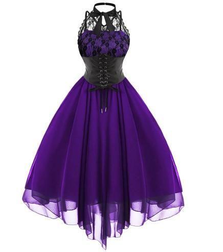 Gothic Bow Vintage Corset Dress – Gothic Babe Co