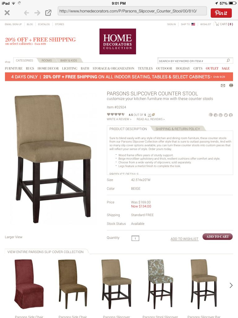 Counter stool from Home