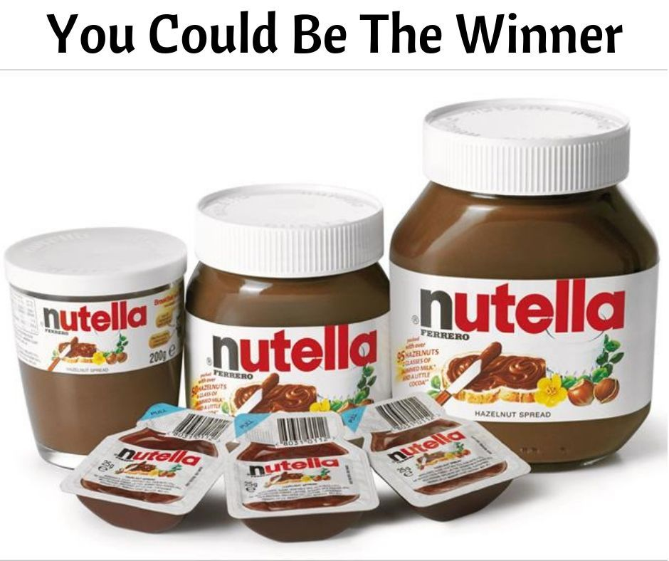Win a nutella prize pack nutella nutella bottle gift