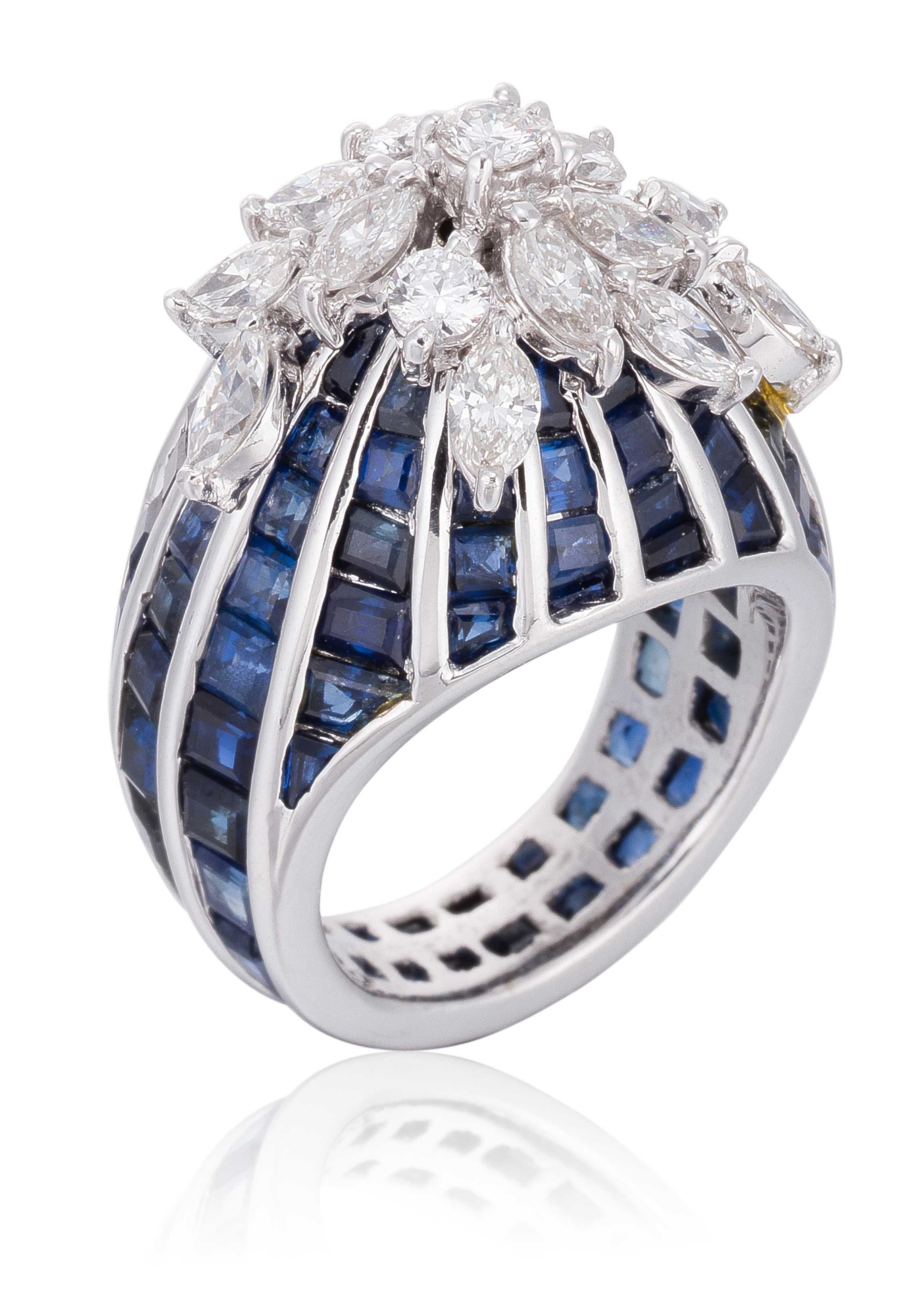 item the ni royal rings ornamental starry ring druzey livemaster quartz blue buy handmade stones