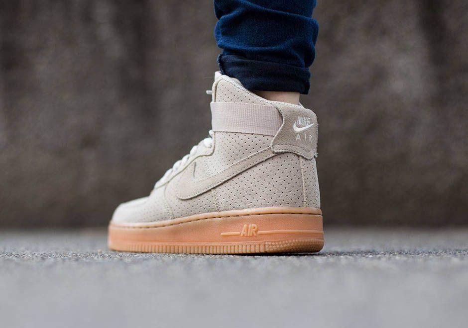 Nike Air Force 1 Daim Gris Air De Gomme