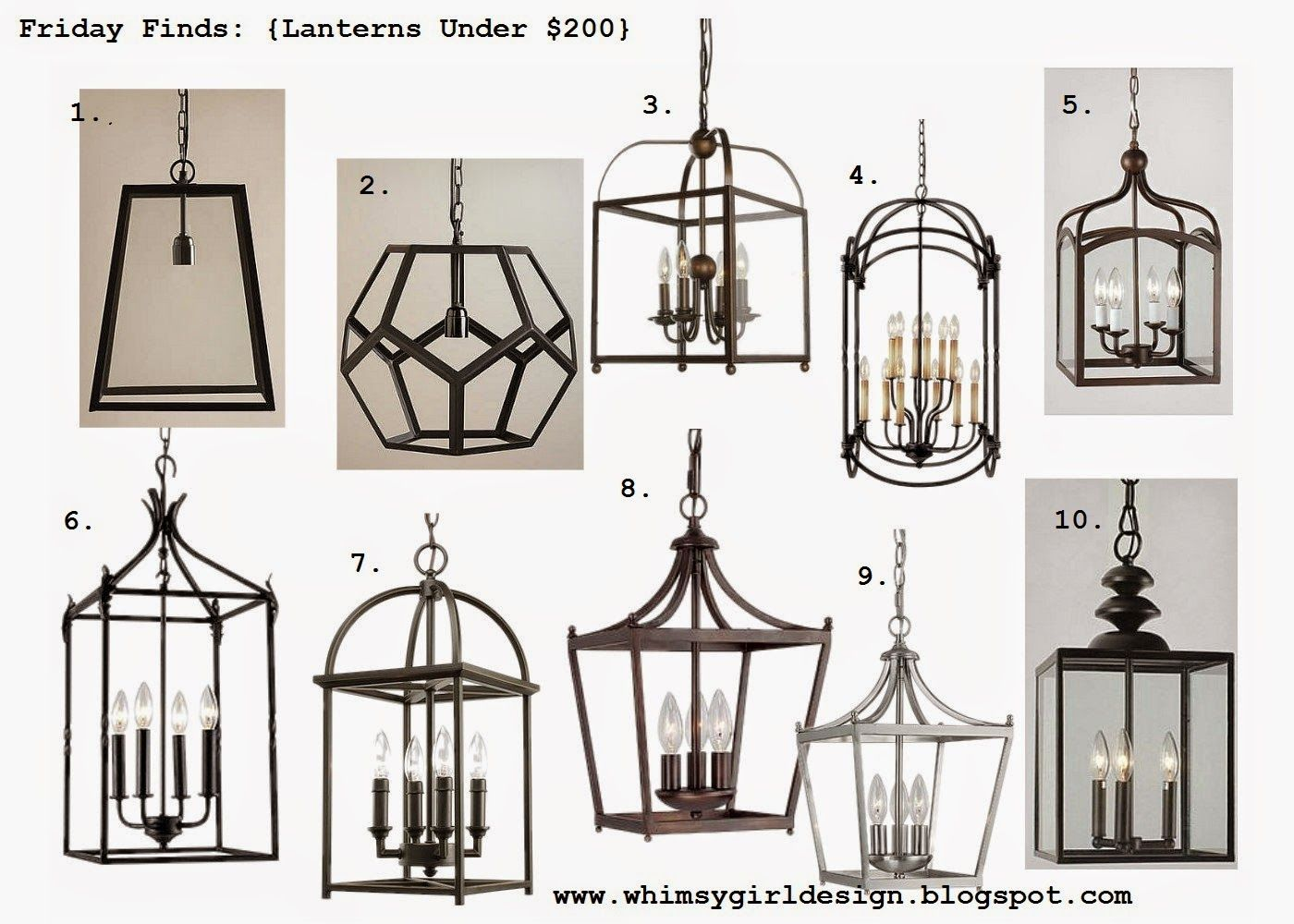 Whimsy Girl Friday Finds Lanterns Under For The Home - Lantern light fixtures for kitchen