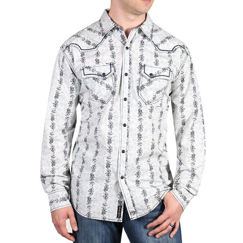 Moonshine Spirit® Men's Acoustic Long Sleeve Western Shirt