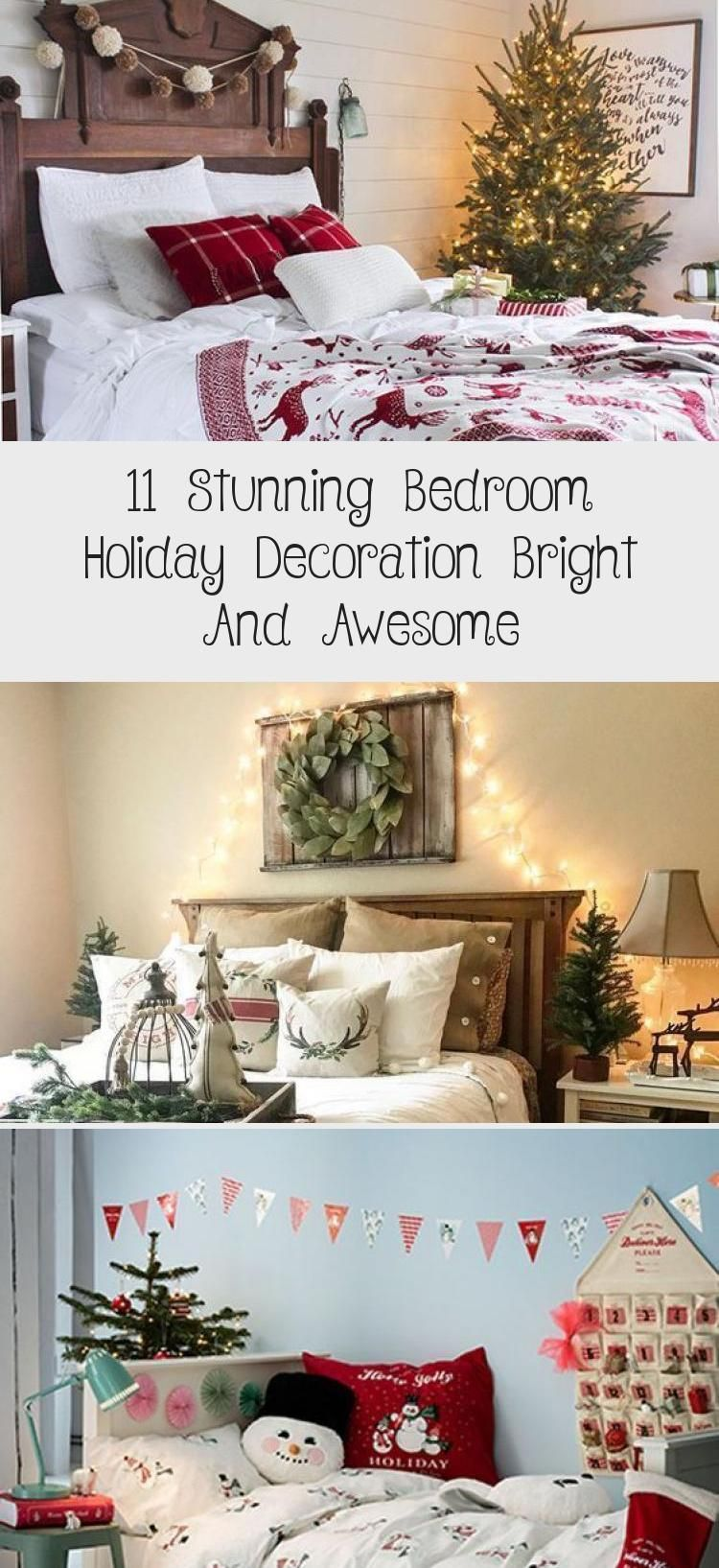 11 Stunning Bedroom Holiday Decoration Bright And Awesome #happyfallyallwallpaper