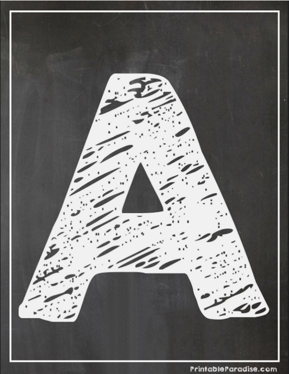 picture relating to Printable Chalkboard Letters known as Printable Letter A Chalkboard Producing Printable Chalkboard